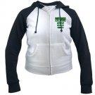 WOMEN'S raglan hoodie | DEFENSE : anticipate, devastate, dominate [green]