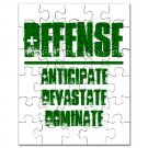 30pc PUZZLE | DEFENSE : anticipate, devastate, dominate [green]