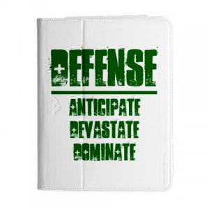 iPAD 3 Folio | DEFENSE : anticipate, devastate, dominate [green]