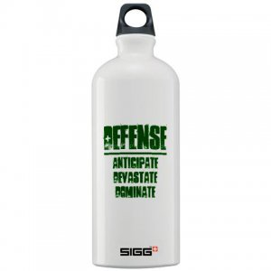 SIGG WATER BOTTLE 1L | DEFENSE : anticipate, devastate, dominate [green]