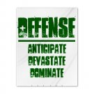 TWIN DUVET COVER | DEFENSE : anticipate, devastate, dominate [green]