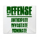 KING DUVET COVER | DEFENSE : anticipate, devastate, dominate [green]
