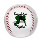 BASEBALL SHAPED PILLOW | DEFENSE : anticipate, devastate, dominate [green]