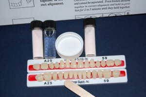 Denture Repair Kit with 28 Denture Teeth