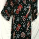 African Clothing Women Long Dress Black Gray Red Plus