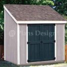 4' X 8' Lean-to Storage Shed Project Plans, Design #10408