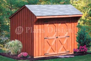 6' X 8' Saltbox Roof Style Shed/playhouse Plans , Design #70608