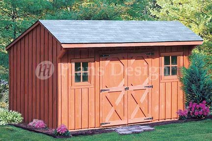 6 39 x 12 39 saltbox storage shed playhouse plans design 70612 for Saltbox garden shed plans