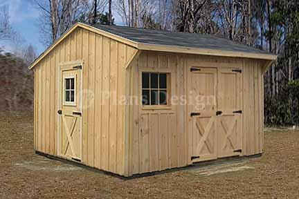 12 39 X 12 39 Saltbox Roof Style Storage Shed Plans Design 71212