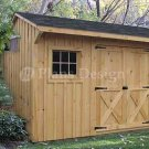8' X 12' Saltbox Style Storage Shed Project Plans, Design #70812