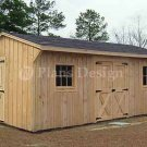 12' X 18' Saltbox Garden Storage Shed Plans, Design #71218