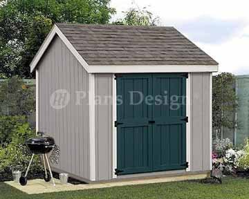 8 39 x 8 39 gable roof style storage shed plans desing 10808 for Gable storage shed plans