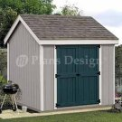 8' x 8' Gable Roof Style Storage Shed Plans, Desing #10808