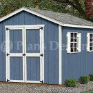 12' x 8' Classic Gable Style Storage Shed Plans, Design #21208