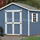 8' x 8' Classic Gable Outdoor Building Shed Plans, Design #20808