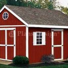 16' x 10' Gable Roof Style Storage Shed Plans, Design #21610