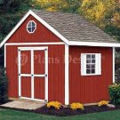 10' x 10' Gable Garden Storage Shed Plans, Design #21010
