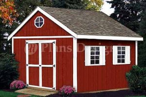 12' x 10' Gable Storage Shed Project Plans, Design #21210