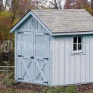 6' X 8' Gable Garden Storage Shed Plans, Design #80608