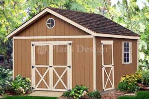 16' x 12' Gable Roof Style Shed Project Plans, Design #21612