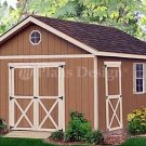 20' x 12' Gable Garden Storage Shed Project Plans, Design #22012