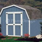 8' X 8' Barn/gambrel Wooden Storage Shed Plans, Design #30808