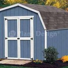 10' X 8' Barn/gambrel Garden Tools Shed Plans, Design #31008