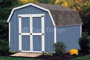10' X 8' Barn/gambrel Garden Tools Shed Plans, Design #31008