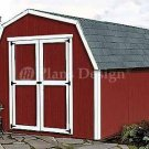 12' X 8' Barn/gambrel Roof Style Shed Plans, Design #31208