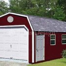 12' X 20' Barn/gambrel Garage Project Plans, Design #31220