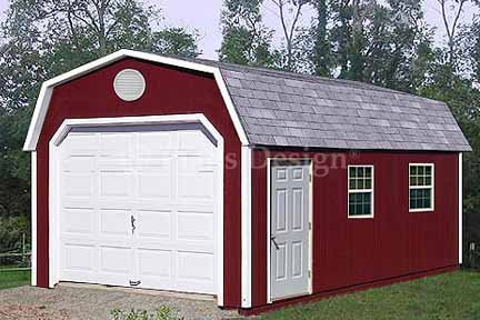 12 39 x 24 39 barn gambrel garage project plans design 31224 for Gambrel barn prices