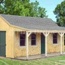 12' X 20' Cottage Shed with Porch Project Plans, Design #81220
