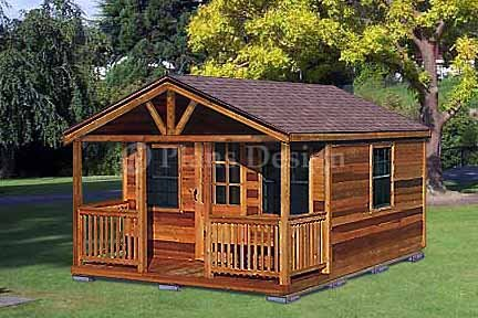 20 39 x 16 39 cabin shed with porch project plans design 62016 for 20 x 40 shed plans