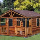 20' X 16' Cabin Shed with Porch Project Plans, Design #62016