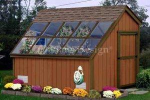 10' X 8' Garden Greenhouse Project Plans, Design #41008