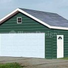 20' X 20' Car Garage Building Project Plans, Design #52020