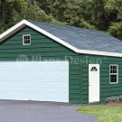 20' X 28' Two Car Garage Project Plans, Design #52028
