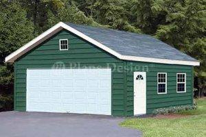 20' X 28' Two Car Garage Project Plans, Design #52028