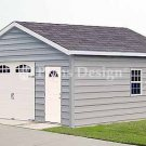 18' X 24' Car Garage Workshop Project Plans, Design #51824