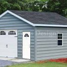 18' X 20' Car Garage Building Project Plans, Design #51820