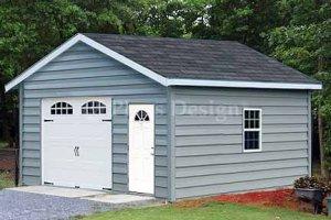18' X 20' Car Garage Building Project Plans, Design #51820