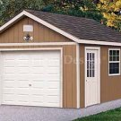 12' X 16' Car Garage Shed Project Plans, Design #51216