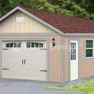 16' X 28' Car Garage Blueprint Project Plans, Design #51628