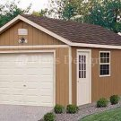 12' X 24' Car Garage Building Project Plans, Design #51224