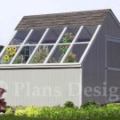 10' x 10' Backyard Garden Greenhouse Project Plans, Design #41010