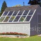 10' x 12' Backyard Garden Greenhouse Project Plans, Design #41012