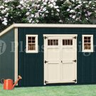 10' x 16' Deluxe Modern Storage Shed Plans / Blueprints, Design #D1016M