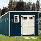 10' x 12' Deluxe Modern Garden Storage Shed Plans, Design #D1012M