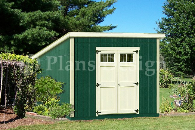 10 39 x 10 39 deluxe modern utility storage shed plans design for Modern shed prices