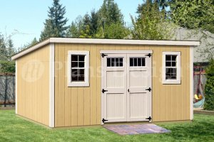 8' x 16' Classic Deluxe Modern Storage Shed Plans, Design #D0816M